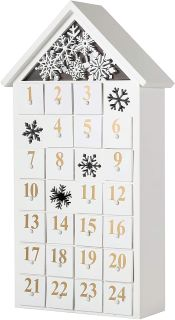 calendrier de l'avent en forme de maison mini tiroirs