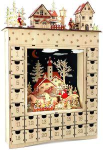 calendrier de l'avant bois décoration de noel