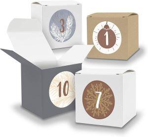 Boîtes en Papier Numérotées pour Calendrier de l'Avent
