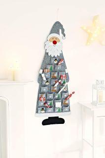 Calendrier de l'Avent Père Noël Gris