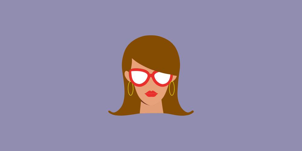 icône femme qui fait travailler