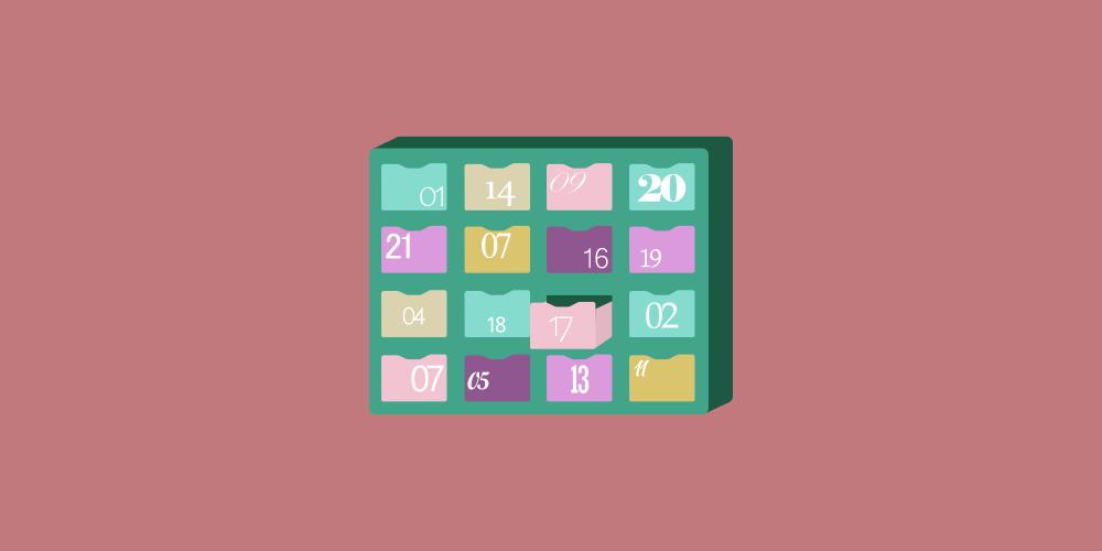 icône d'un calendrier de l'Avent