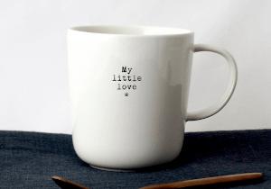 tasse à café fait main blanc my little love