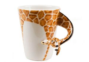 mug à café fait à la main girafe