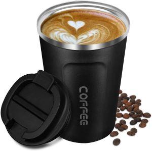 mug de transport isotherme noir pour café et thé