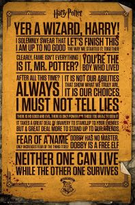 Grande Affiche Citation du Film Harry Potter