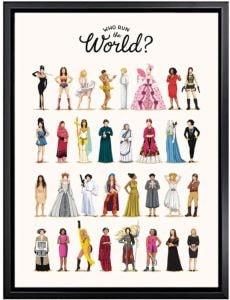 affiche encadrée who run the world girls