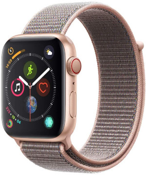 apple watch 4 rosegold bracelet tissu montre connectée
