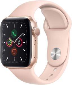 apple watch idée cadeau rose et dorée