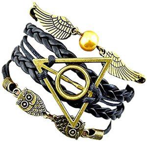 Bracelet en Cuir Vif d'Or