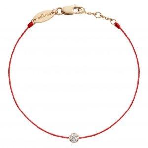 bracelet rouge redline avec diamant