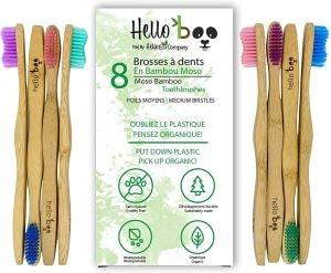 lot de brosses à dent en bambou