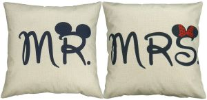 Duo de Coussin Mr. & Mrs. Disney