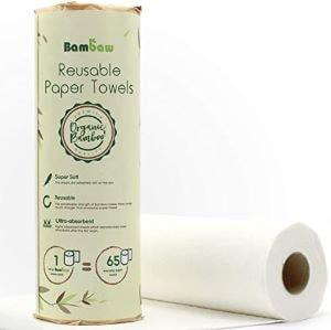 essuie-tout en bambou lavable