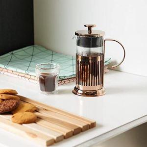 french press cuivrée pour café