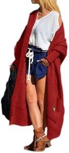 cardigan long en laine pour femme