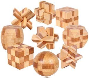 lot de casse tete en bois - Beaux Cadeaux