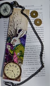 Marque Page Lapin Blanc