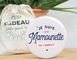 Miroir de Poche Mamounette de Compet'