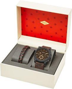 coffret cadeau noël montre et bracelet fossil