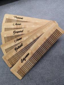 peigne en bambou eco responsable idée cadeau personnalisable