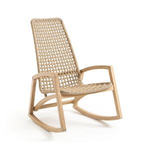 fauteuil à bascule en eucalyptus