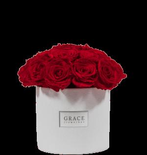 Roses rouges éternelles grace flower box