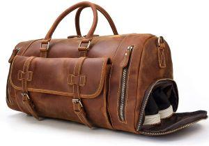 sac de voyage en cuir compartiment chaussure