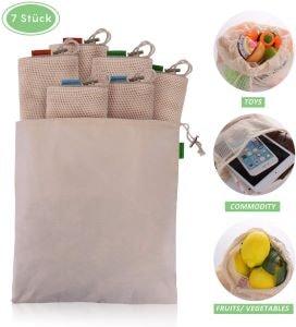 ensemble de sachet à légumes réutilisables
