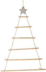 Support en Bois en Forme de Sapin de Noël pour Calendrier de l'Avent