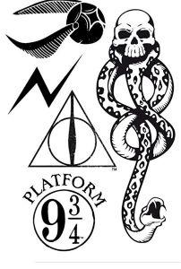 Tatouages Éphémère Harry Potter