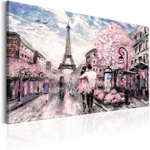 Tableau Toile Tendue XXL représentant Paris
