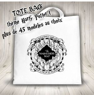 Tote Bag Harry Potter Different Designs au Choix