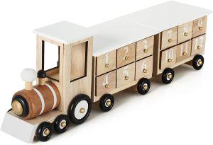 train en bois calendrier de l'avent