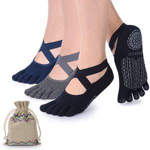 chaussettes antidérapantes pour le yoga
