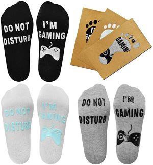 """Chaussettes Fantaisies lot de 3 """"do not disturb"""""""