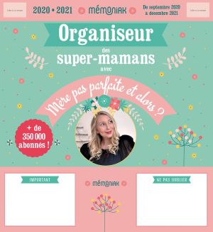 Un Organiseur de Super Maman bleu et rose