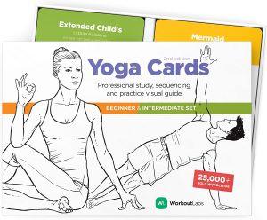 cartes de poses de yoga