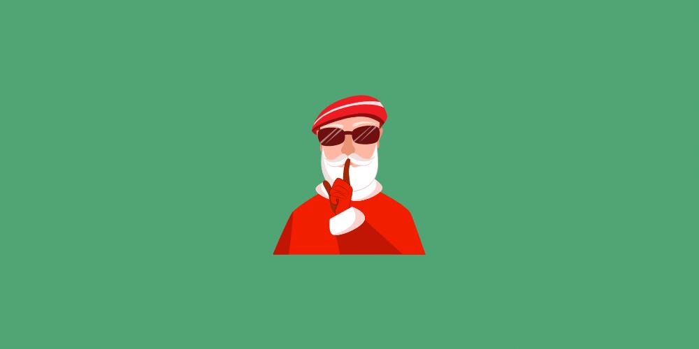 icon pere noel secret santa pour idées cadeaux