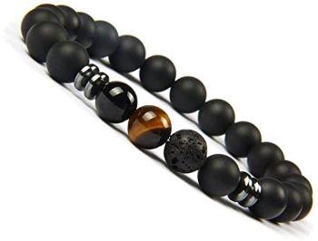 bracelet en pierre naturelle homme