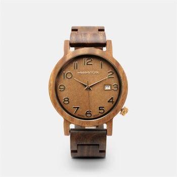 montre en bois cadeau de noel