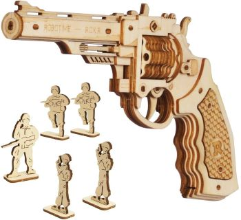pistolet en bois a assembler - Beaux Cadeaux