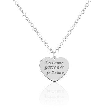 collier coeur maman - Beaux Cadeaux