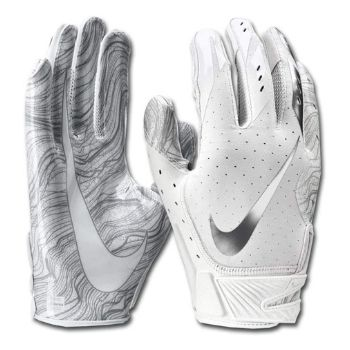 gants de football nike blancs
