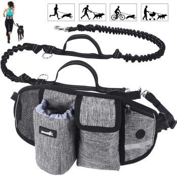 ceinture de running avec chien