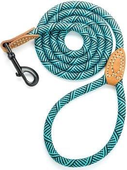 laisse pour chien en corde et cuir