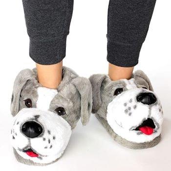 pantoufles en forme de chien