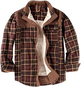 veste à carreaux flannelle pour sénior