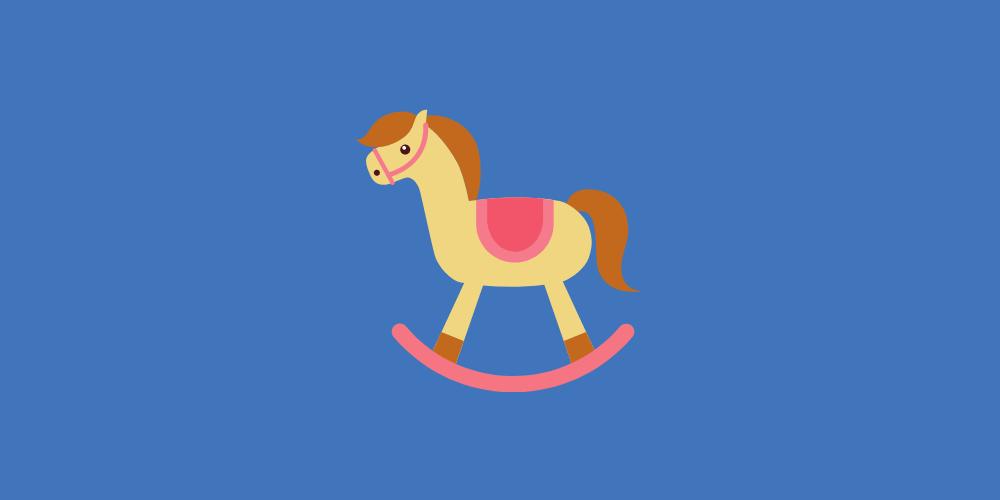 icone cheval bois