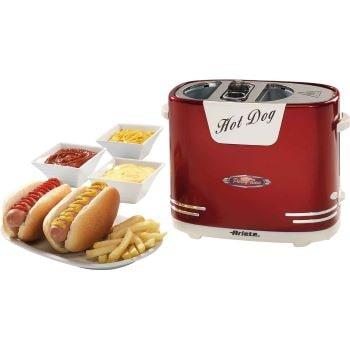 machine à cuisiner des hot dog rouge